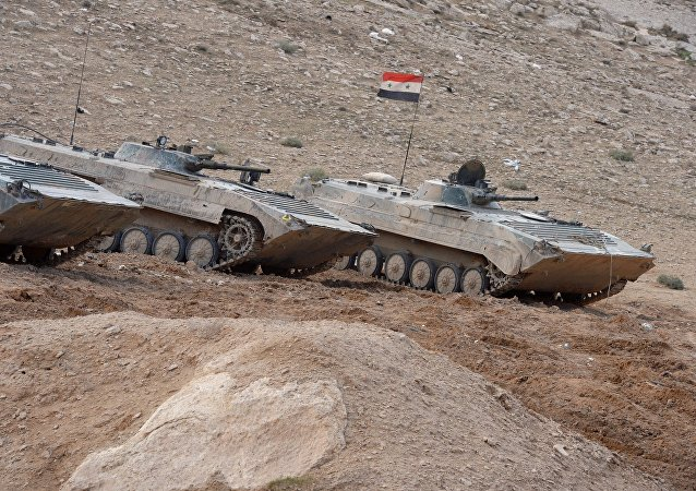 Los vehículos blindados BMP del Ejército Sirio (archivo)