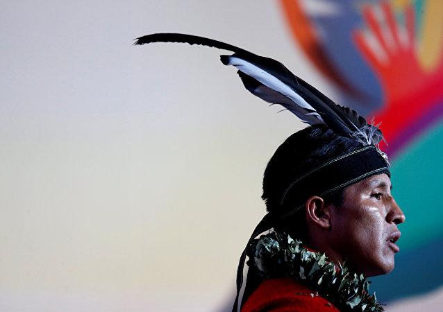 Un hombre indígena (imagen referencial)