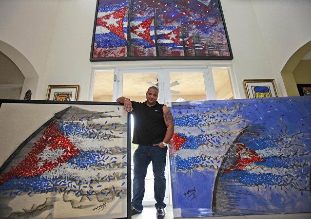 Michel Mirabal, artista cubano