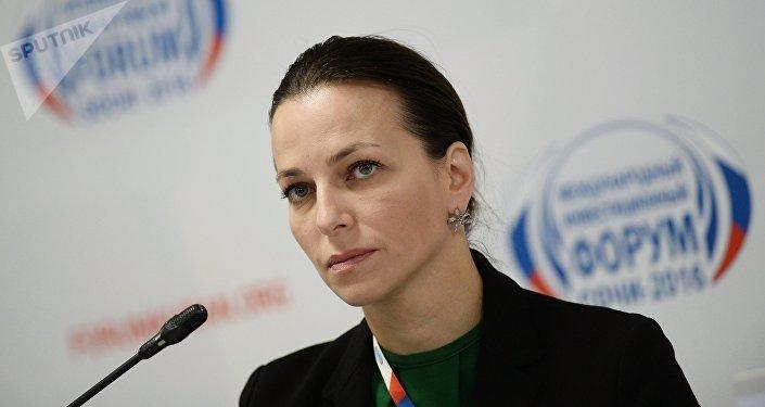 Rectora de la Universidad Estatal Social de Rusia, Natalia Pochinok (archivo)