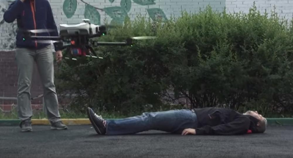 Presentación del dron desfibrilador del Instituto Tecnológico de Moscú