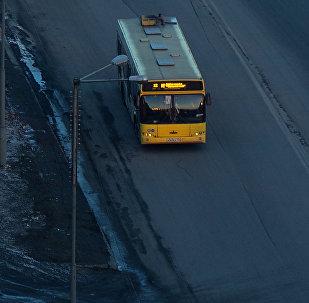 Un autobús en Norilsk