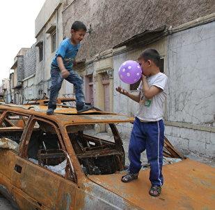 Niños iraquíes (archivo)