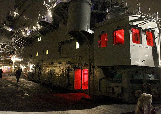 La cubierta de un portaviones