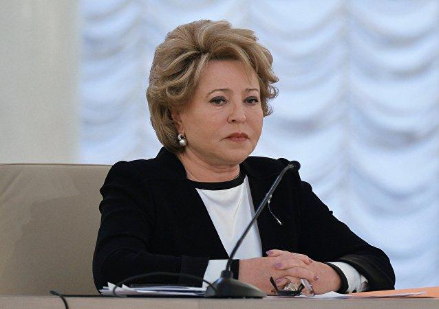 Valentina Matvienko, la presidenta del Consejo de la Federación (Senado ruso)