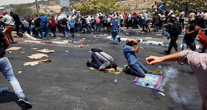 Los choques entre los israelíes y los palestinos en Jerusalén (archivo)