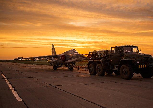 Caza Su-25 (imagen referencial)