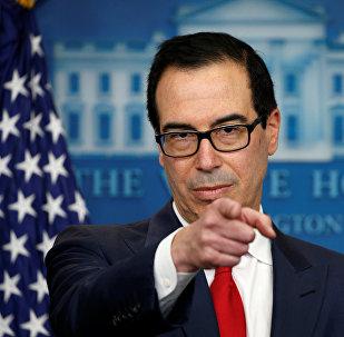 El Secretario del Tesoro de los Estados Unidos, Steve Mnuchin