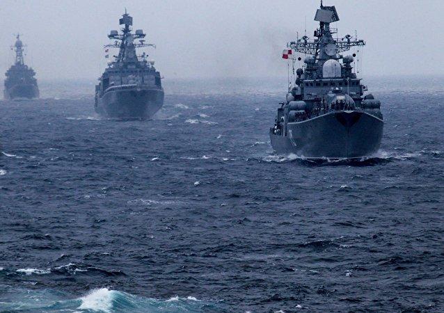 Maniobras ruso-chinas en Vladivostok, 2015