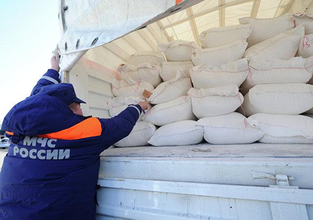 Convoy humanitario (imagen referencial)