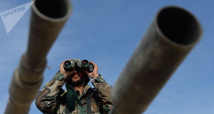 Militante del Ejército sirio (archivo)