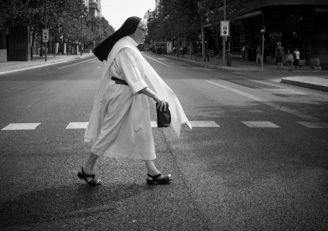 Una monja (imagen referencial)