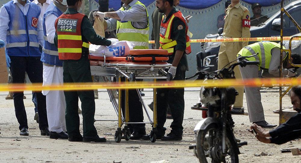 El lugar de la explosión en Pakistán (archivo)