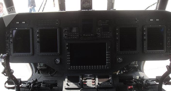 El panel de control del helicóptero Mi-171A2