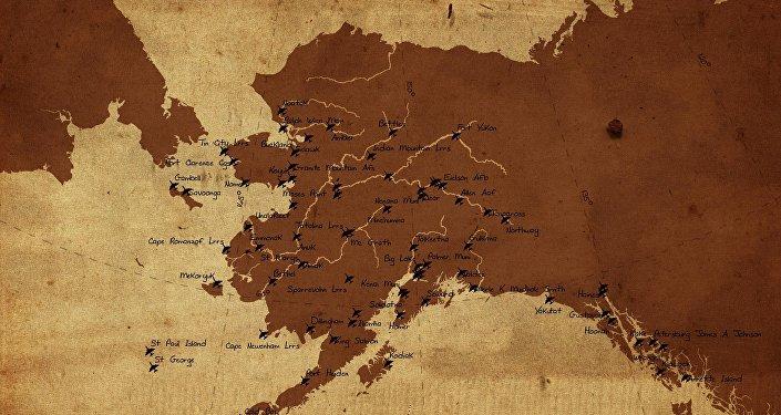 El mapa de Alaska, Rusia está a la izquierda (imagen referencial)