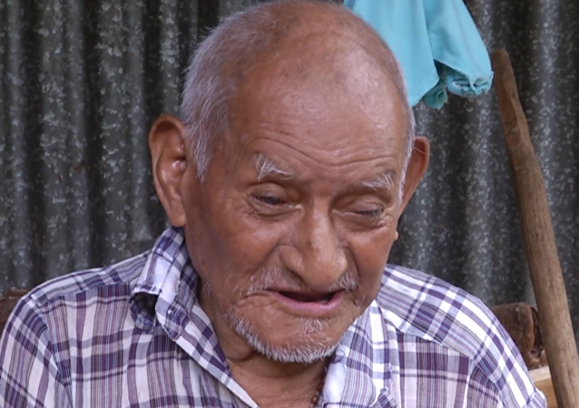 Máximo Gómez Hernández, un nicaragüense de 117 años (captura de la pantalla)