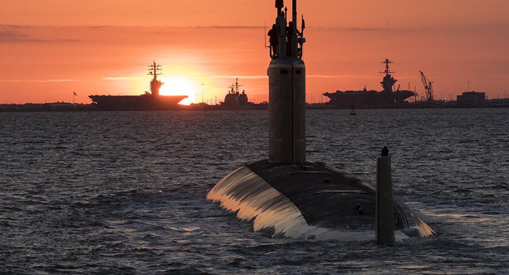 El USS Washington, submarino de clase Virginia de la Marina de Guerra de Estados Unidos