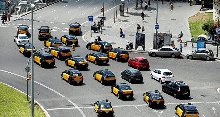 Protestas contra Uber y Cabify en Barcelona (archivo)