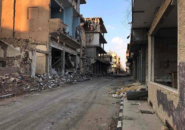 La devastación de los edificios en Homs tras el paso de los terroristas