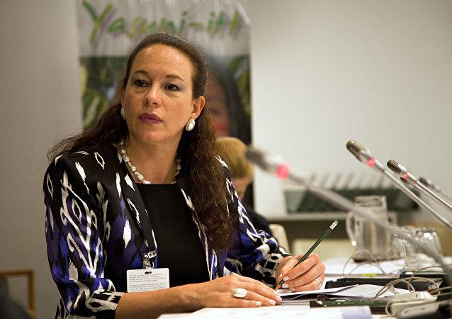 María Fernanda Espinosa, excanciller ecuatoriano