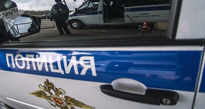 Un coche policial ruso