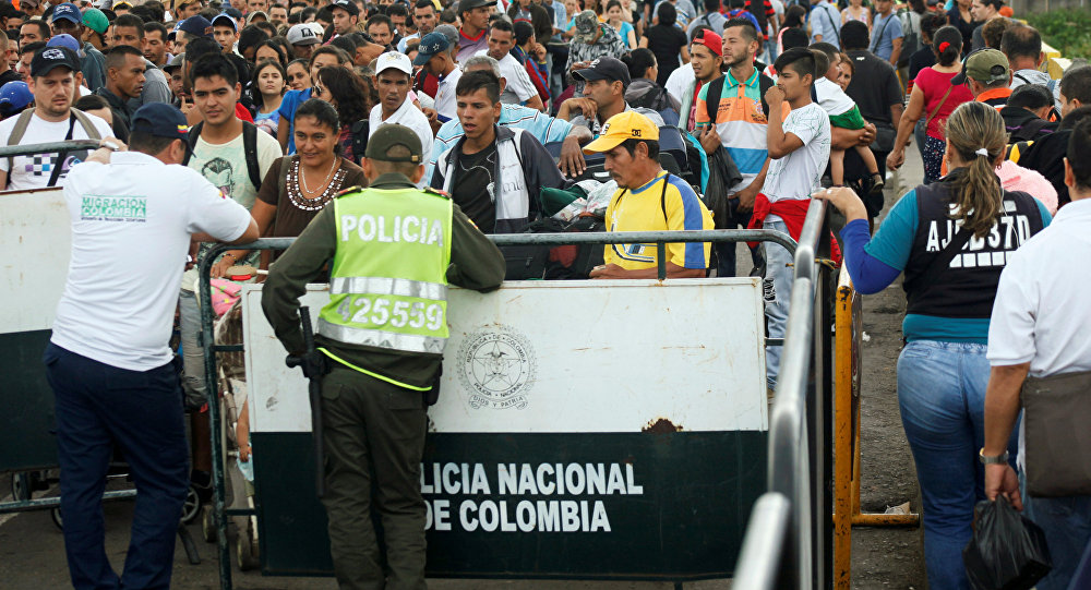 Los venezolanos en la frontera con Colombia (archivo)