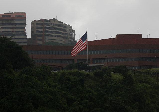 La embajada de EEUU en Caracas, Venezuela (archivo)