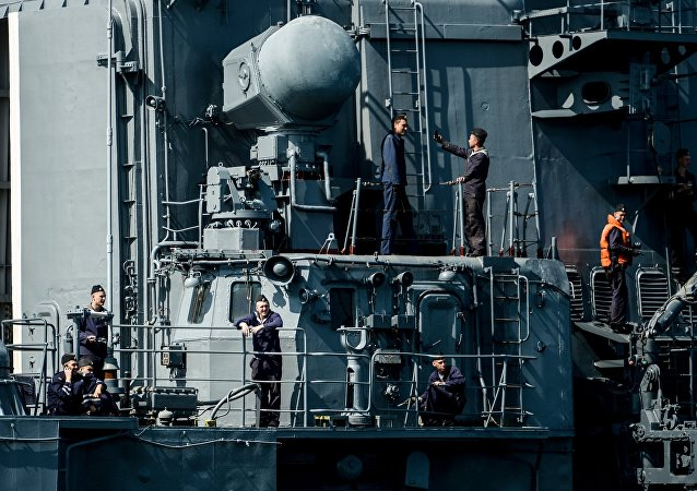 Tripulantes de un destructor de Rusia (archivo)