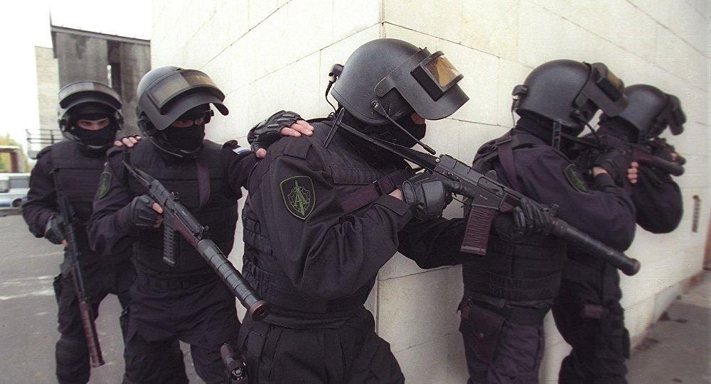 Efectivos del Servicio Federal de Seguridad de Rusia (FSB) grupo Alfa
