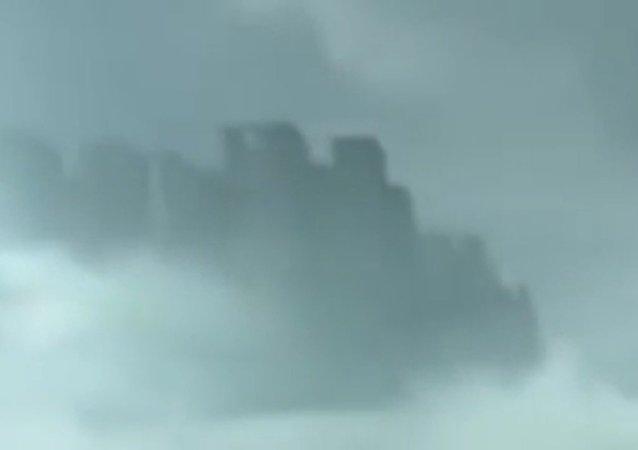 La 'ciudad flotante' de China revela su secreto (vídeo)