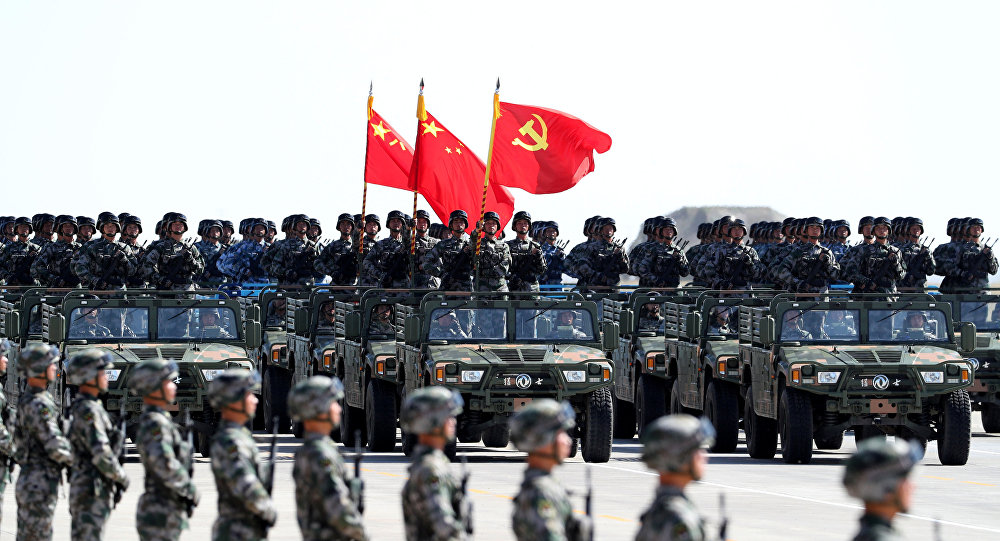 El Ejército de China durante el desfile militar (archivo)