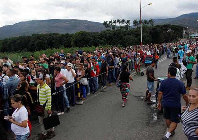 Venezolanos en la frontera con Colombia (archivo)
