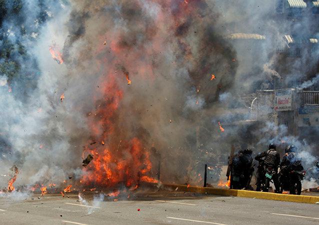 Las protestas en Venezuela (archivo)