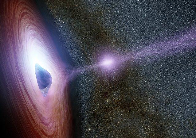 Agujero negro (imagen referencial)