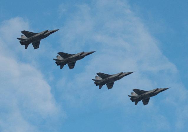 Cazas rusos MiG-31 (archivo)