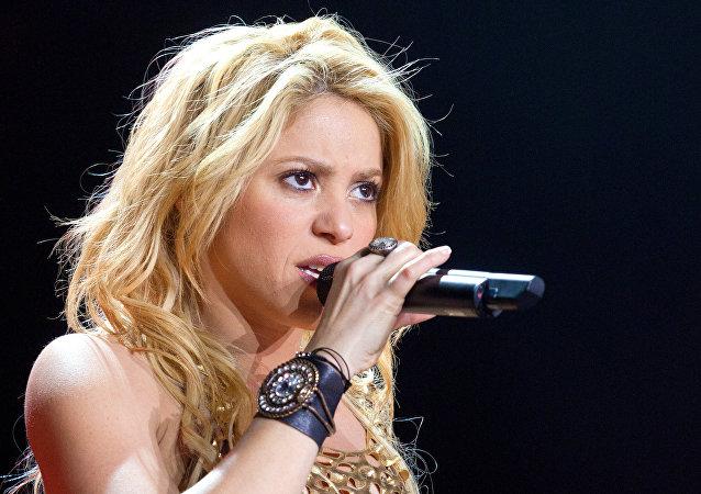 Shakira en un concierto en Moscú en 2011 (archivo)