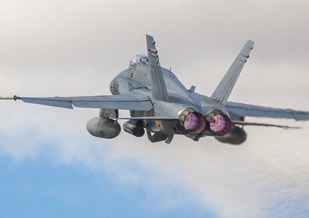 Caza F-18 de la Fuerza Aérea de España (archivo)