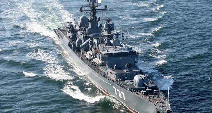 El buque de la Armada Rusa Yaroslav Mudri