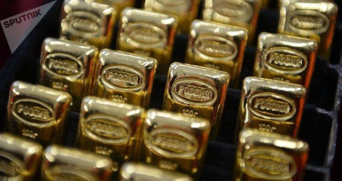 Barras de oro en Rusia