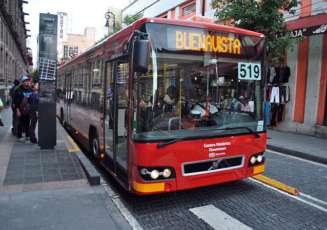 Metrobús en Ciudad de México.