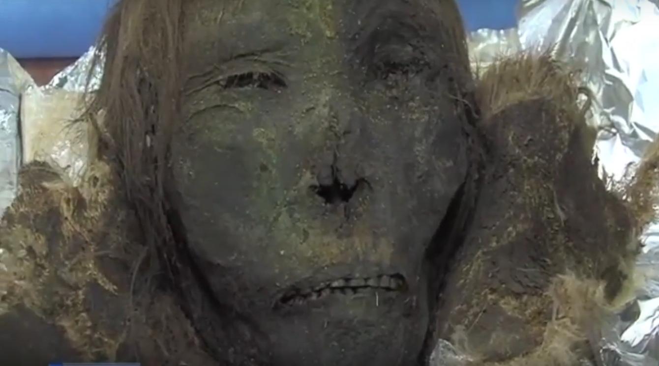 Momia del siglo XII encontrada en Siberia