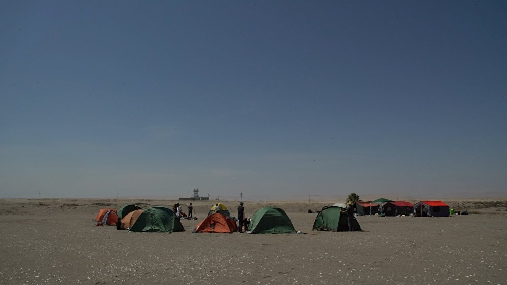 Proyecto de Bienalsur en la frontera entre Chile y Perú
