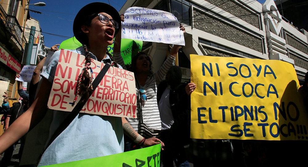 Protestas contra de tender una carretera a través del Territorio Indígena Parque Isiboro Sécure (archivo)