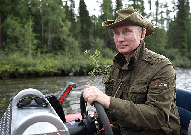 Vladímir Putin, presidente de Rusia, durante las vacaciones