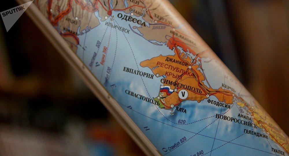 Península de Crimea en un mapa
