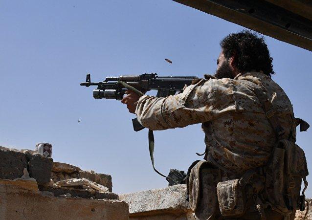 Combatientes de la Guardia Republicana Siria en Deir Ezzor (archivo)