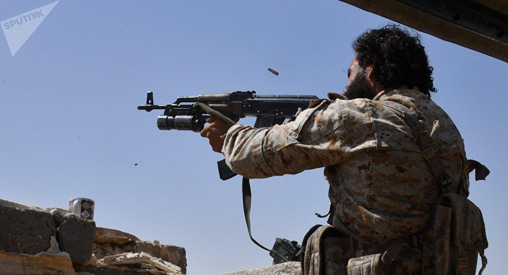 Combatientes de la Guardia Republicana Siria en Deir Ezzor, Siria, 30 de abril de 2017