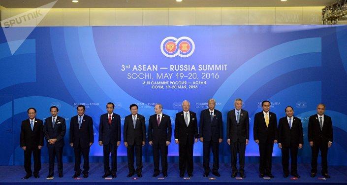 Los jefes de las delegaciones de la cumbre Rusia - ASEAN
