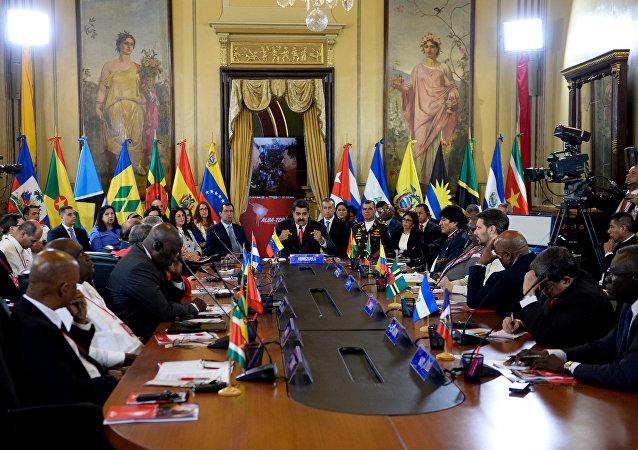 Cumbre del ALBA en Caracas, Venezuela (archivo)