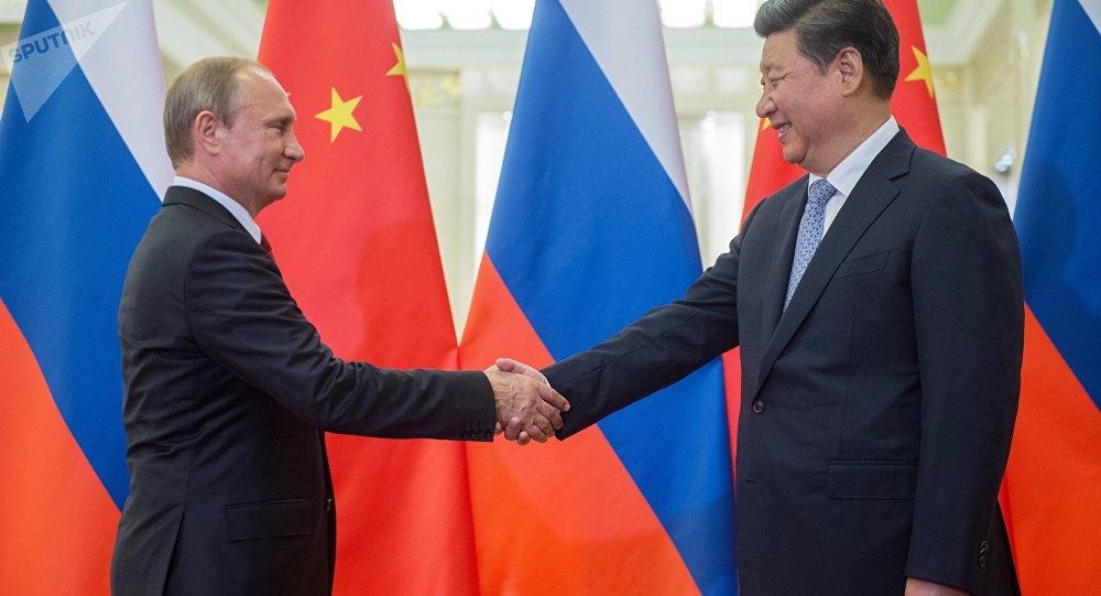 Presidente de Rusia, Vladímir Putin y presidente de China, Xi Jinping